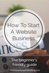 how to start a website business