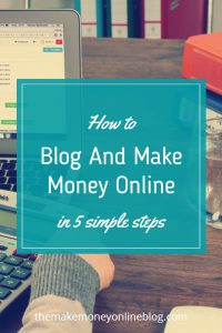 how to blog and make money online