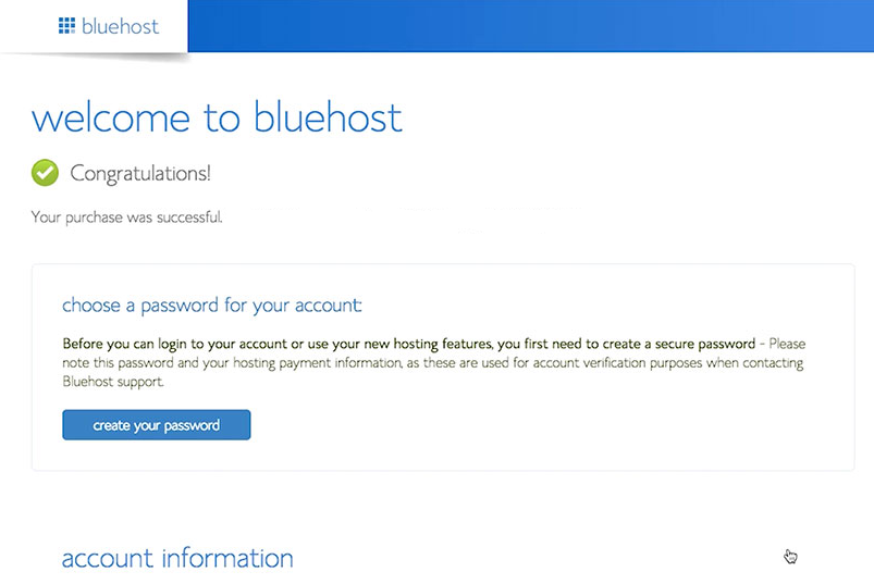 domain registered with bluehost web hosting