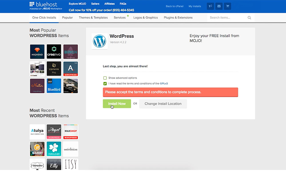 starting a wordpress blog from scratch with bluehost web hosting