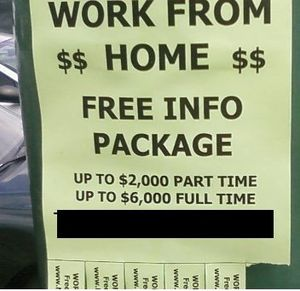 why working from home stuffing envelopes is a scam