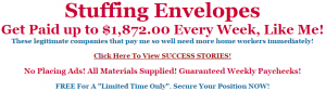 work from home job stuffing envelopes job no fees scam
