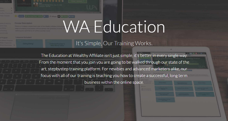 what is the wealthy affiliate online community training