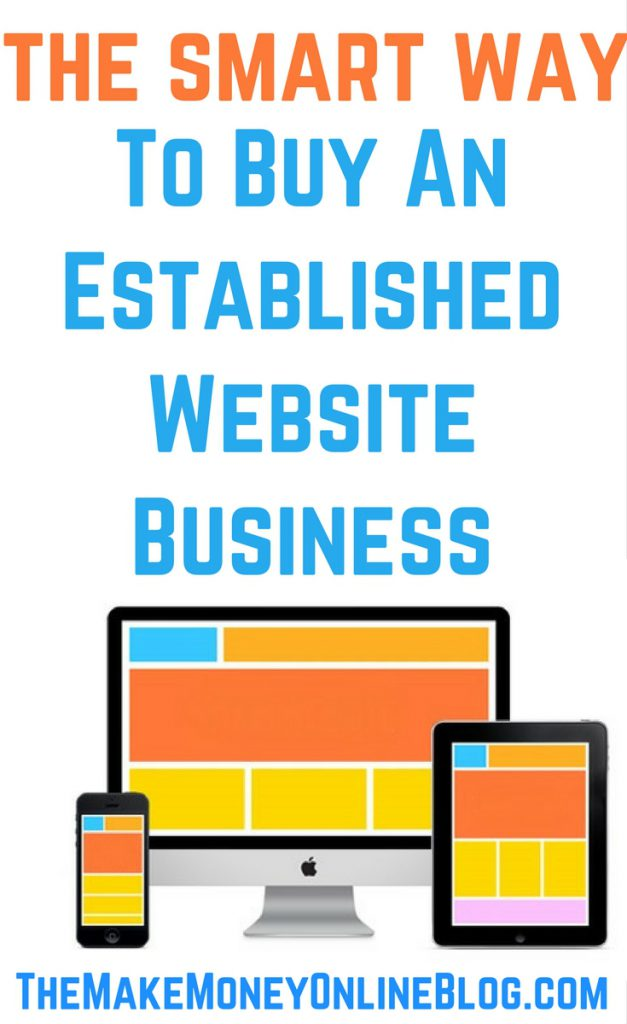 how to buy an established website business