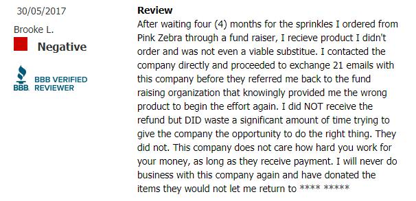 pink zebra complaints