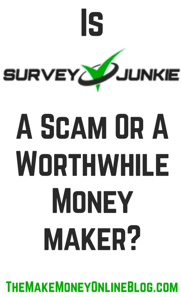 is survey junkie a scam or not