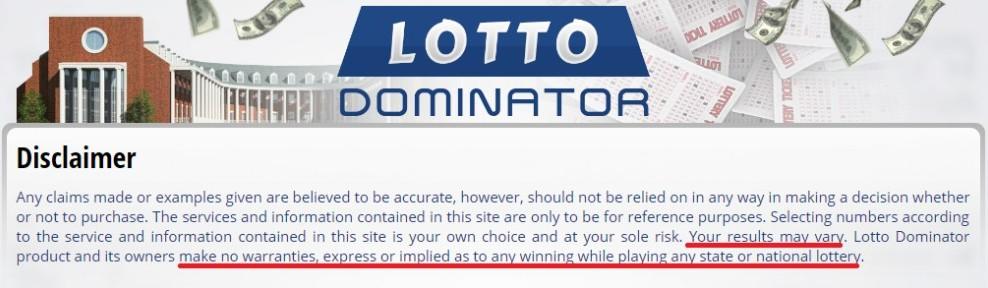 LOTTERY DOMINATOR