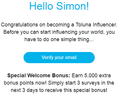 toluna surveys email confirmed