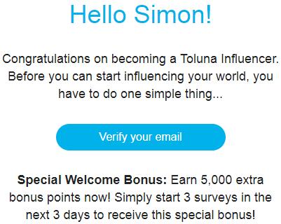 toluna surveys email confirmed