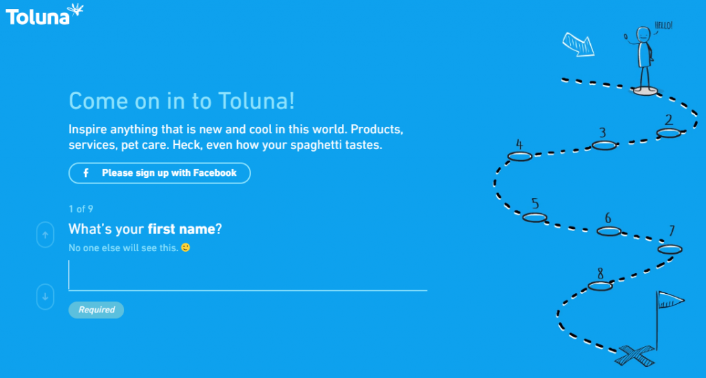 toluna surveys sign up process