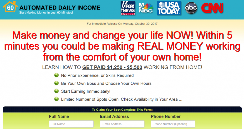 what is automated daily income