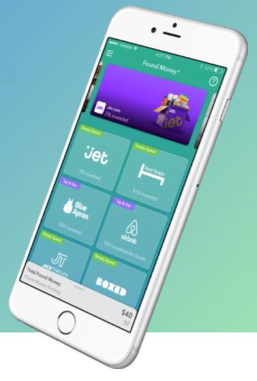 found money acorns app partners