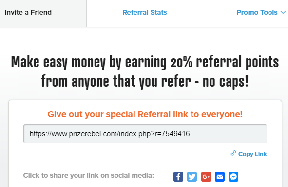 prize rebel referral program