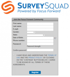 signing up for survey squad