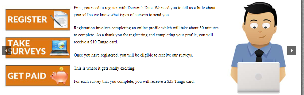 what is darwins data about