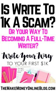 Is Write To 1K A Scam