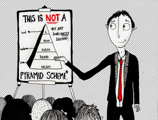 6 steps to freedom pyramid scheme scam