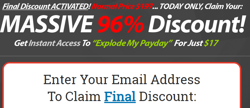 explode my payday discount