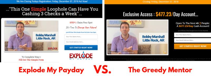 explode my payday vs greedy mentor