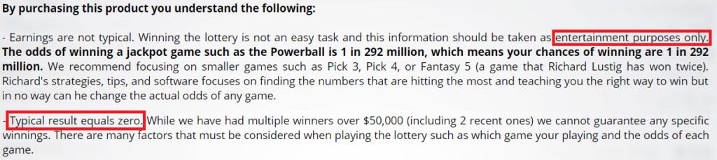 richard's lottery secrets is a scam