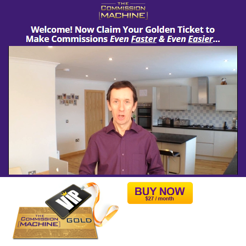 the commission machine golden ticket upsell