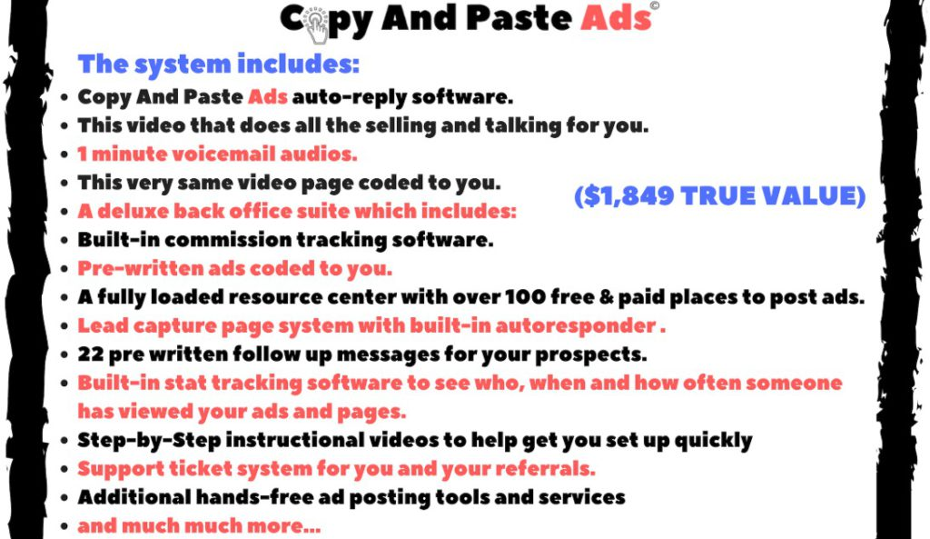 copy and paste ads scam