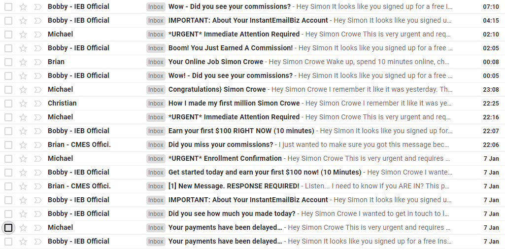 bobby instant email empire