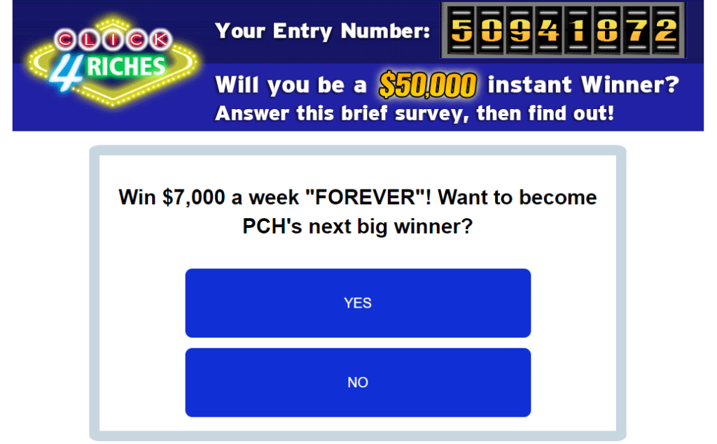 Click 4 Riches Review - A Scam Or A Chance To Win $50,000?