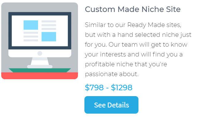 custom made niche websites