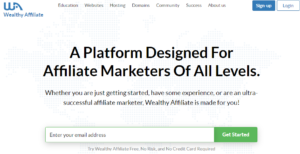 wealthy affiliate homepage