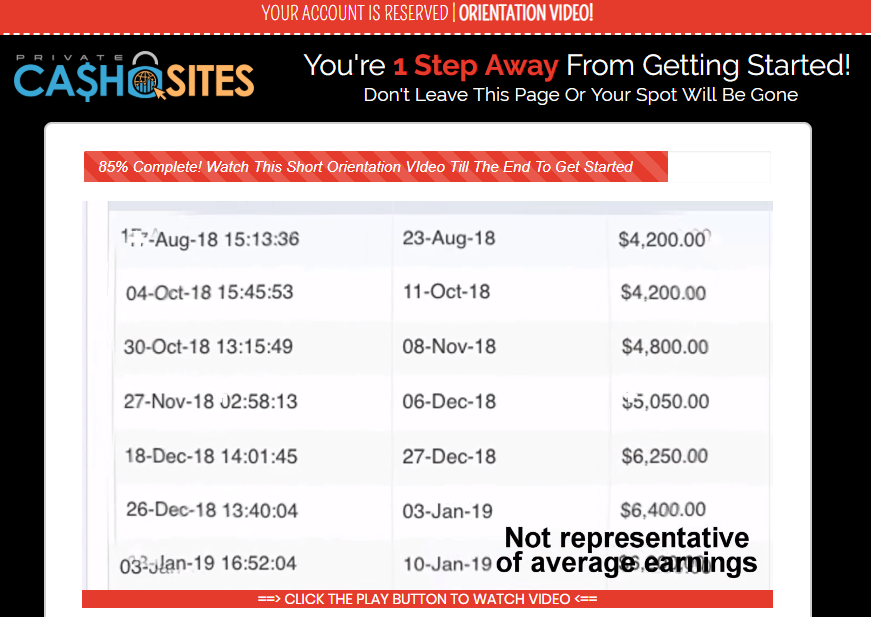 can you make money with private cash sites