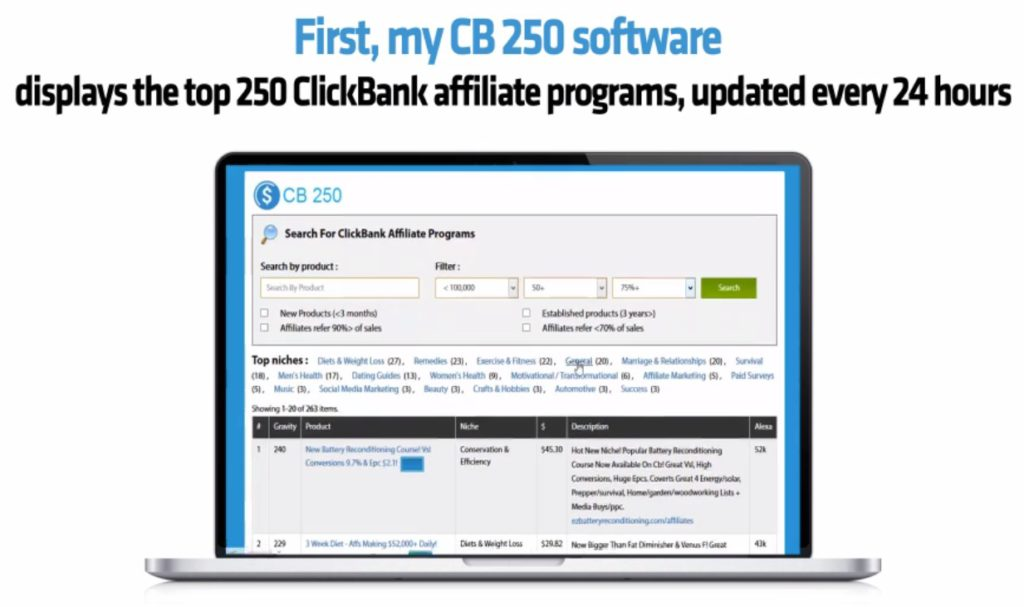 cb250 software by affiliate bots review