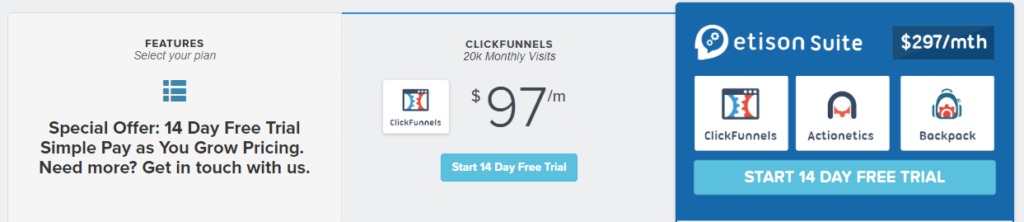 clickfunnel prices
