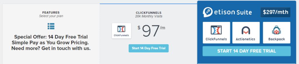 clickfunnel prices