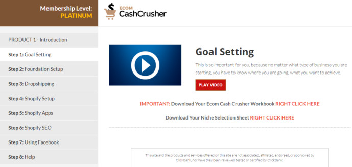 ecom cash crusher training course