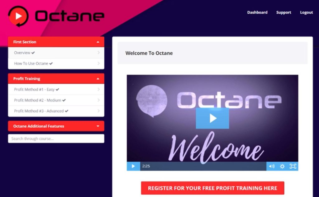 octane scam review members training area