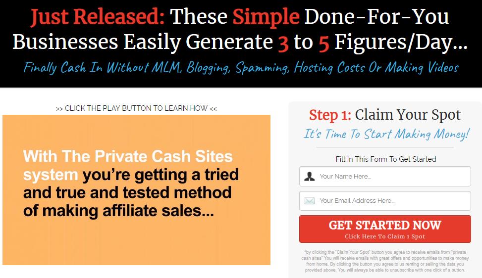 private cash sites scam review
