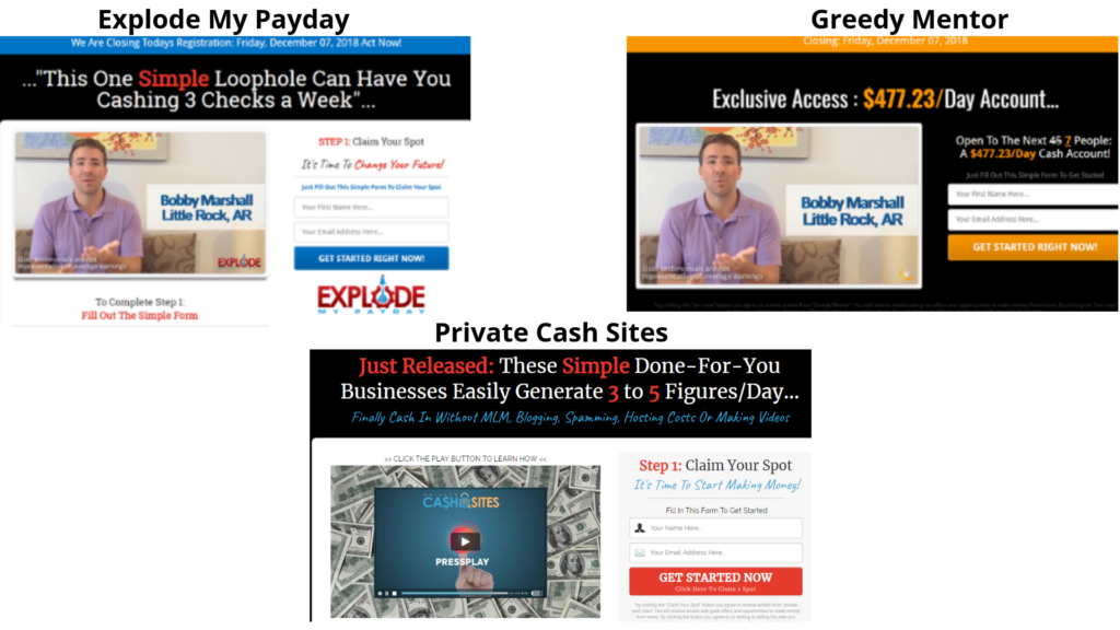 private cash sites vs greedy mentor vs explode my payday scams