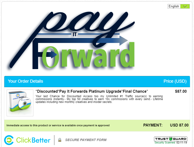 the pay it forward scam