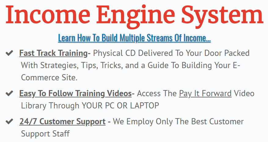what you get with income engine system