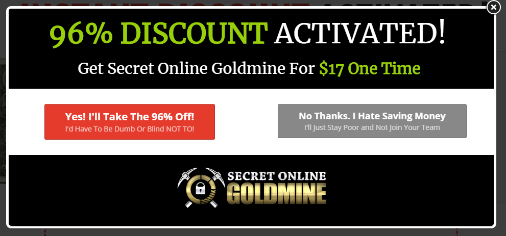reasons why secret online goldmine is a scam