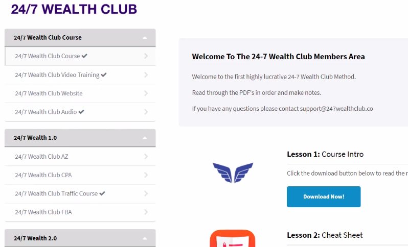 24-7 wealth club scam or legit