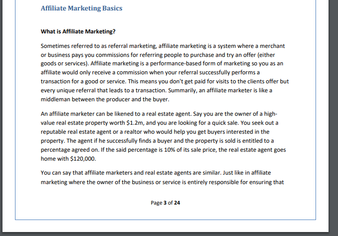affiliate marketing basic pdf