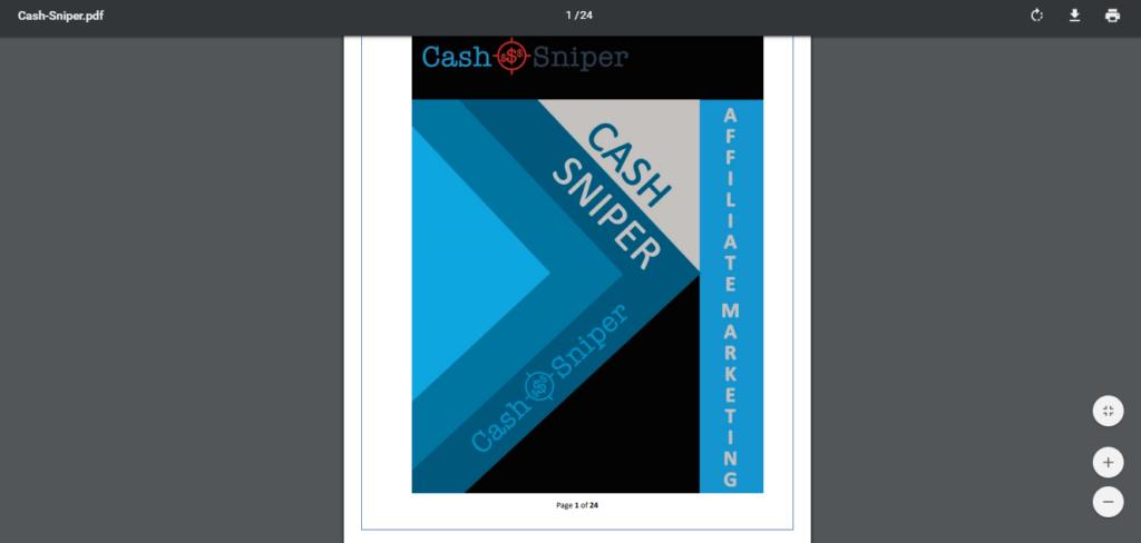 cash sniper pdf