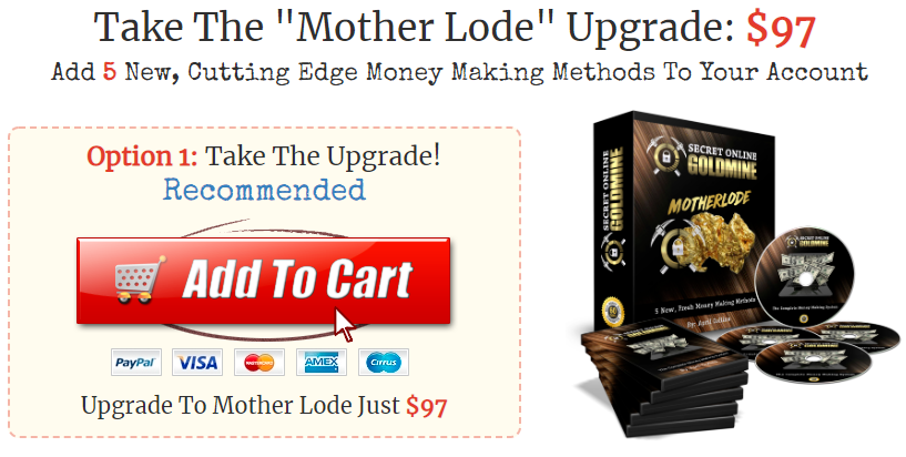 mother lode upgrade