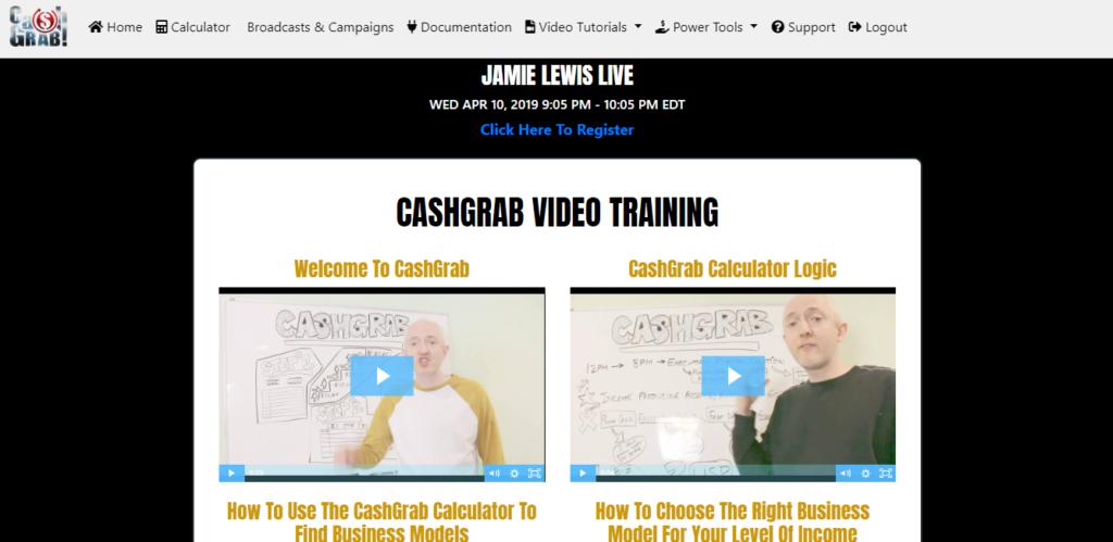 what is cash grab jamie lewis