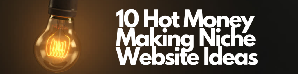 10 hot money making niche website ideas