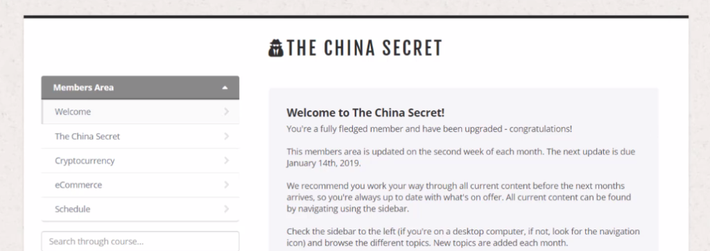 the china secret scam