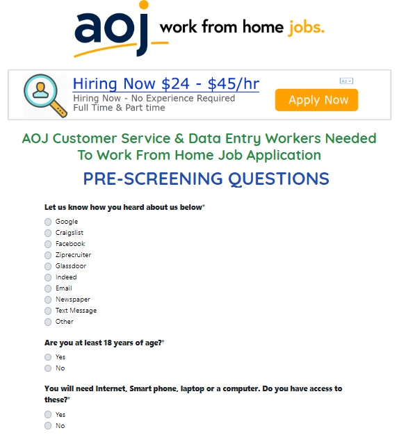 AOJ Work From Home Jobs website