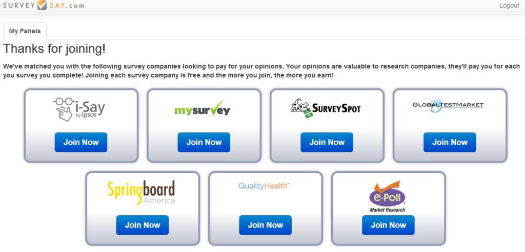surveysay recommended survey sites